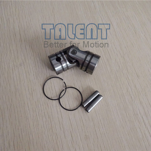 Single universal joint,can be used as a linkage, or transmission, between two intentionally misaligned shafts, rather than just as a coupling. Lawn and garden equipment, conveyors and material handling equipment, food processing equipment, packaging system, printing equipment, agriculture machines and so on.