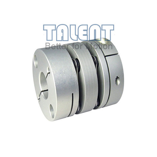 Advantages of diaphragm couplings:  High torque capacity and excellent response. Zero backlash. Compensate the angular and axial misalignments. Disc couplings are suitable for servo motor, stepper motor, screw rods, etc.