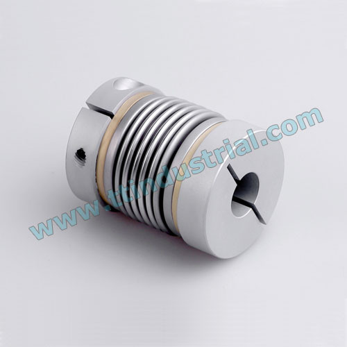 Bellows coupling, servo coupling, stainless steel bellows coupling, suitable for servo motor, stepper motor, screw rods, encoder,etc.