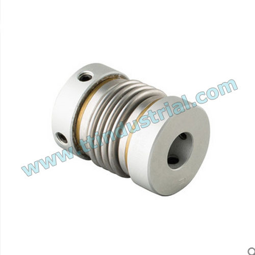 Precision bellows coupling, servo coupling, stainless steel bellows coupling, suitable for servo motor, stepper motor, screw rods, encoder,etc.