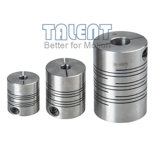 Stainless steel slit coupling is a flexible beam coupling with High torsional stiffness and excellent response