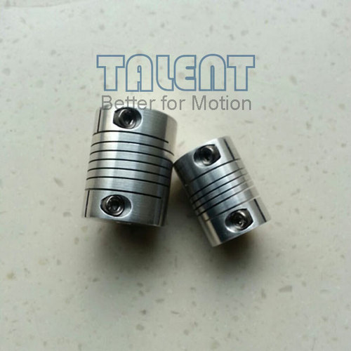 Spiral beam coupling is also called helical coupling for encoder, stepper motor, tachometers, XY stage, miniature screw rods, etc.