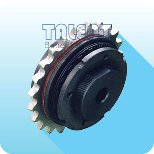 Sprocket friction torque limiter is a kind of overload clutch, used for limiting the torque in the transmission system by sliding when the torque excesses the pre-set value in sudden loading,over-loading or power off, to protect the equipment. Once the over-loading disappears, the device will be back to normal automation without any adjusting or setting.