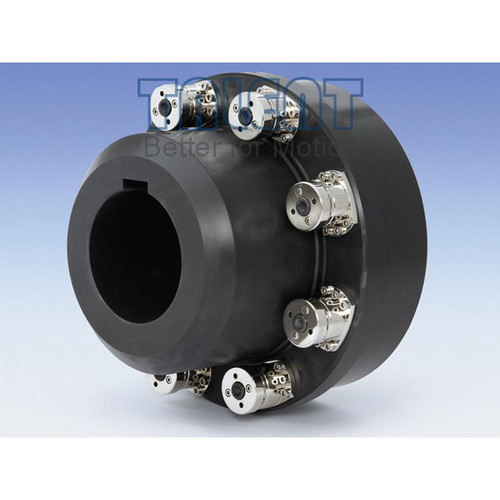 Heavy duty ball torque limiter, modular overload protecting clutch, suitable for shredders, recycling, mills , extruder drives, test bench technology as well as general heavy-duty drives.