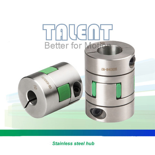 Stainless steel jaw coupling, curved jaw coupling, Clamp type