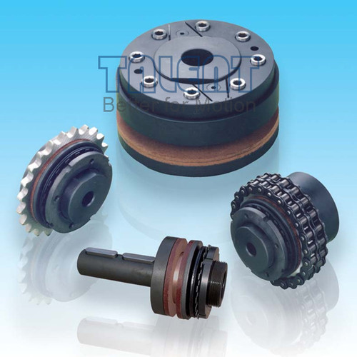 DF friction torque limiter is a simple and economic friction overload clutch, used for limiting the torque in the transmission system by sliding when overloading. FD friction torque limiter maintains larger torque capacity and higher working speed, compare to the CTL type.
