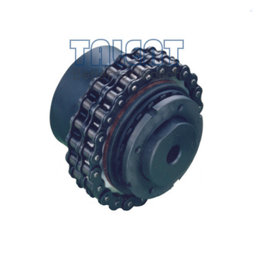 FD-C friction torque limiter with chain coupling is a simple and economic friction safety coupling, used for limiting the torque in the transmission system by sliding when overloading. FD friction torque limiter maintains larger torque capacity and higher working speed, compare to the CTL-C type.