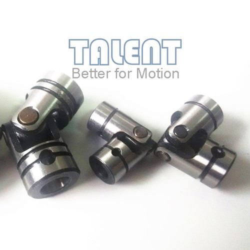 02WS mini universal joint, shaft bore 4x4, set pin attachment