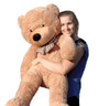 "Joyfay® Big 47"" (3.9 ft) 120cm Light Brown Stuffed Teddy Bear Toy"