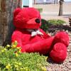"""Joyfay® 78"""" (6.5 ft) Crimson Red Giant Teddy Bear"""
