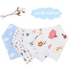 "Joyfay® 4-Pack Baby Bandana Drool Bibs - ""Bear"" Set"