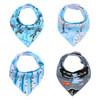 "Joyfay® 4-Pack Baby Bandana Drool Bibs - ""Blue"" Set"