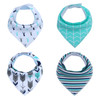 "Joyfay® 4-Pack Baby Bandana Drool Bibs - ""Green"" Set"