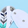 """Joyfay® 8-Pack Baby Bandana Drool Bibs - """"Blue and Gray"""" Set"""