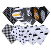 "Joyfay® 8-Pack Baby Bandana Drool Bibs - ""Black and White"" Set"