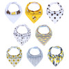 "Joyfay® 8-Pack Baby Bandana Drool Bibs - ""Yellow and White"" Set"