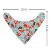 "Joyfay® 8-Pack Baby Bandana Drool Bibs - ""Grey and Red"" Set"