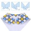 "Joyfay® 8-Pack Baby Bandana Drool Bibs - ""Green and Blue"" Set"