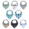 "Joyfay® 8-Pack Baby Bandana Drool Bibs - ""Green and Blue"" Set"