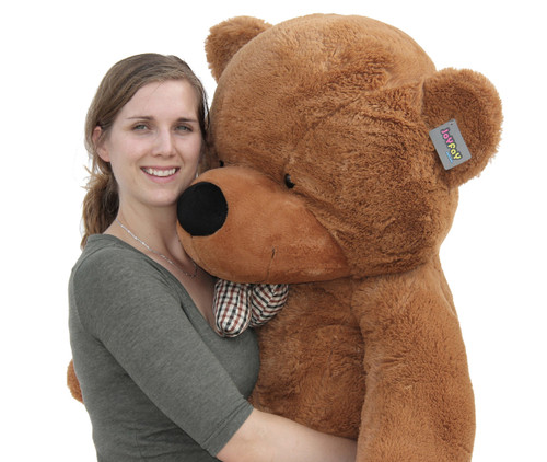 "Joyfay® Soft 63"" (5.25 ft ) Giant Dark Brown Teddy Bear Toy"