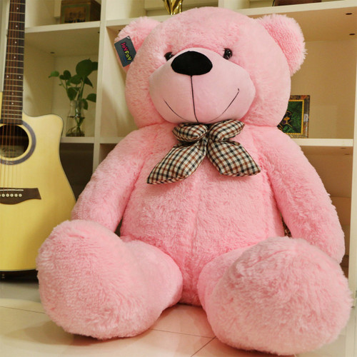 """Joyfay® 47"""" Giant Pink and Purple Teddy Bear- Very Soft to the Touch (4ft Bear)"""
