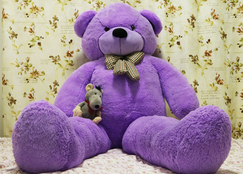 "Joyfay® 78"" Purple Giant Teddy Bear-6.5 Ft Stuffed Toy, Thick Plush Coat"