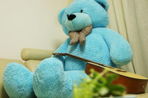 "Joyfay® 78"" (6.5 ft) Giant Blue Teddy Bear 6.5 ft Full Stuffed Toy"