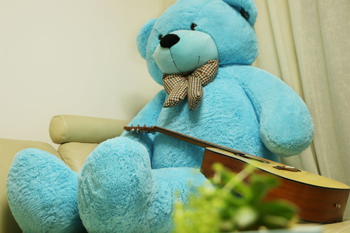 "Joyfay® 78"" (6.5 ft) Giant Blue Teddy Bear 6.5 ft Full Stuffed Toy"