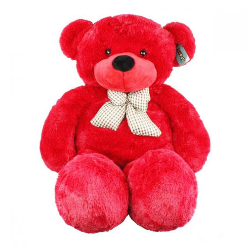 "Joyfay® HUGE  47"" (4 ft.)  RED Teddy Bear Stuffed Plush Toy"