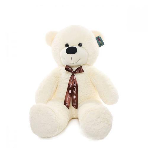 "Joyfay® Big 39"" Smiling White Teddy Bear Stuffed Plush Toy"