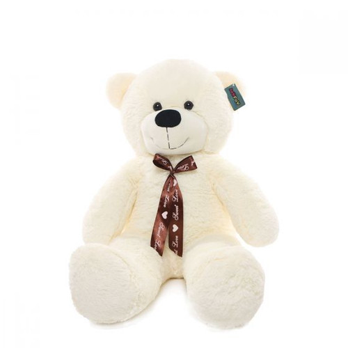 "Joyfay® Big 39"" (3.25 ft) Smiling White Teddy Bear Stuffed Plush Toy"
