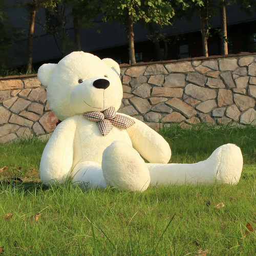 "Joyfay® 63"" (5.25 ft )Gentle White Teddy Bear Stuffed Toy"