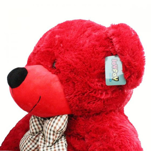 "GIANT 63""(5 ft. 3 in.) RED Teddy Bear Stuffed Plush Toy from Joyfay®"