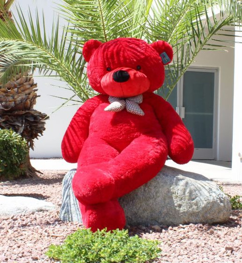 "Joyfay® GIANT 63""  (5.25 ft )  RED Teddy Bear Stuffed Plush Toy"