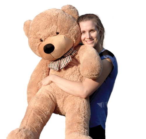 "Joyfay® Big 47"" (3.9 ft) 120cm Light Brown Stuffed Teddy Bear Toy"