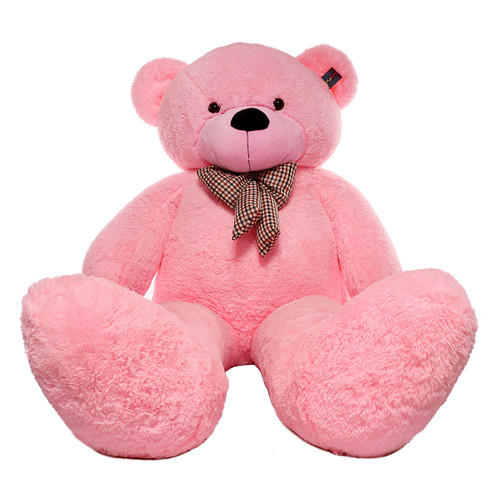"Joyfay® Big 91"" Pink Teddy Bear- This Fuzzy Giant is 7ft Plus in Stature"