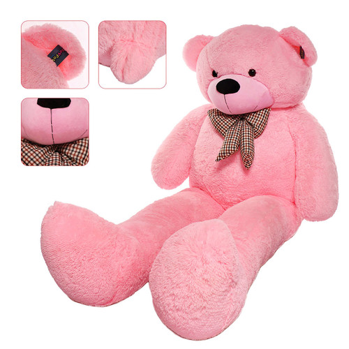 "Joyfay® Big 91"" (7.6 ft) Pink Teddy Bear- This Fuzzy Giant is 7ft Plus in Stature"