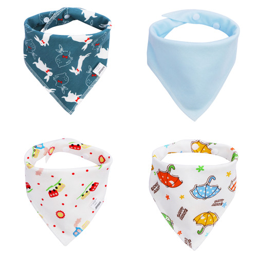Joyfay® 4-Pack Baby Bandana Drool Bibs - Boy Set