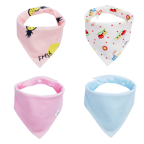 Joyfay® 4-Pack Baby Bandana Drool Bibs - Girl Set