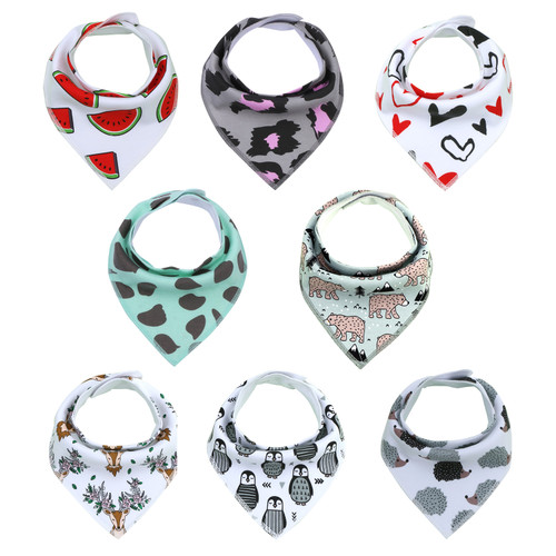 "Joyfay® 8-Pack Baby Bandana Drool Bibs - ""Animal"" Set"