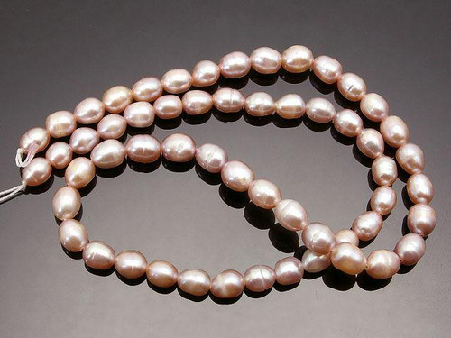 """6-7mm Pink Rice Freshwater Pearl 14-15"""" [p6k]"""