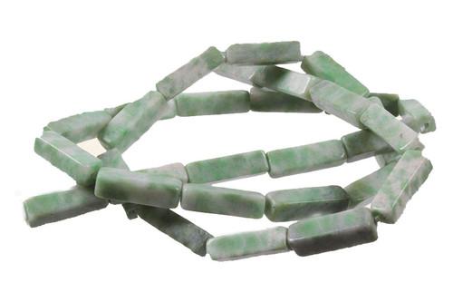 "4x13mm China Jade Cube Beads 15.5"" [s1a27-13c]"