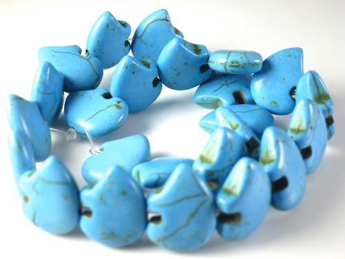 """16x22mm Blue Magnesite Zuni Bear Beads 15.5"""""""