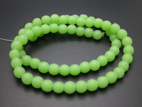 """6mm Matte Chrysprase Round Beads 15.5"""" synthetic"""
