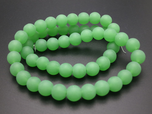 """8mm Matte Chrysprase Round Beads 15.5"""" synthetic"""