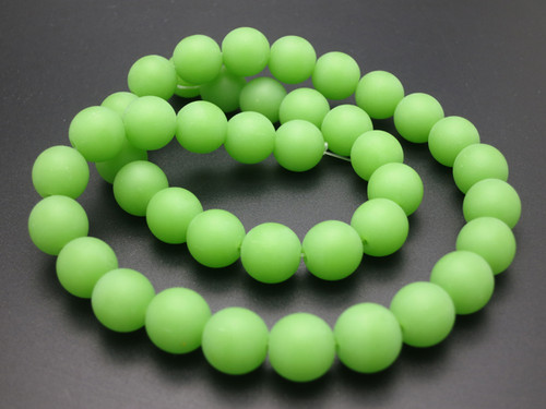 """10mm Matte Chrysprase Round Beads 15.5"""" synthetic"""