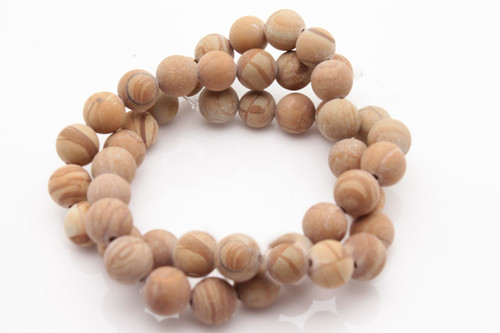 "4mm Matte Picture Jasper Round Beads 15.5"" [4b26m]"