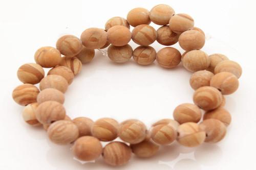 "8mm Matte Picture Jasper Round Beads 15.5"" [8b26m]"