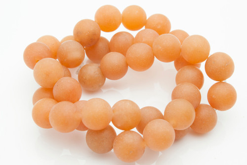 """10mm Matte Red Aventurine Round Beads 15.5"""" [10a1m]"""