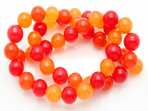 """4mm Mix Red Jade Round Beads 15.5"""" dyed"""